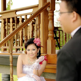 I See Your Face ^_^ by FerRy Cung Cin Fu - Wedding Bride & Groom