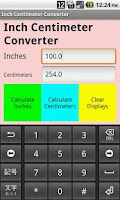 Screenshot of Inch Centimeter Converter