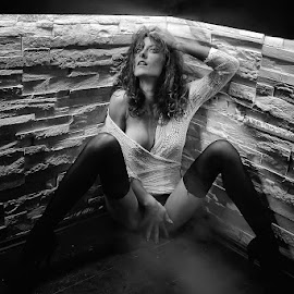 Doris by Stjepan Hranilovic - Nudes & Boudoir Boudoir ( erotic, pose, sexy, model, girl, white, black )