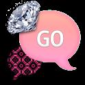 GO SMS - Diamond Pink Pattern icon