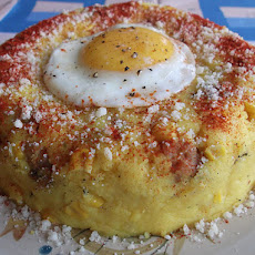 Saffron Polenta with Sausage and Corn