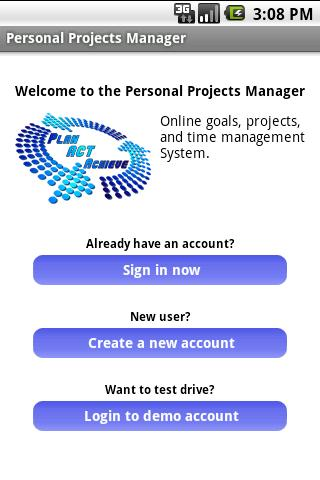 Personal Projects Manager