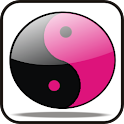 YingYang doo-dad (hot pink) icon