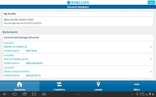Screenshot of Barclays Botswana