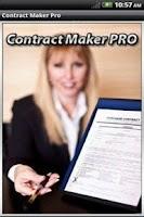 Screenshot of Contract Maker Pro Lite