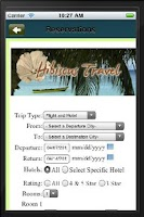 Screenshot of Hibiscus  Travel