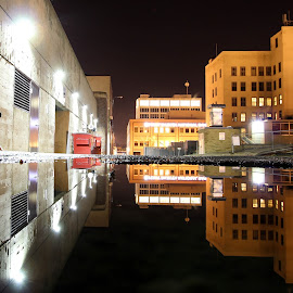 Reflections in Sioux Falls by Danny Eisenhauer - City,  Street & Park  Street Scenes (  )