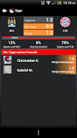 Screenshot of FANTOMIC Fussball Live-Ticker