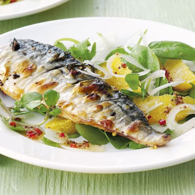 Grilled Mackerel With Orange, Chilli & Watercress Salad