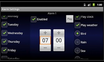 Screenshot of Alarm Clock Harmony LITE