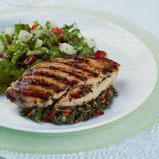 Grilled Chicken with Mint, Orange, and Chile Chutney
