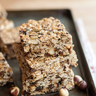 Cocoa-Hazelnut Granola Bars with Dried Figs