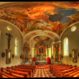 in church - pano by Petr Klingr - Buildings & Architecture Places of Worship ( interior, church, hdr, panorama, alpine,  )