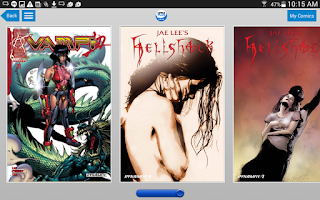 Screenshot of Comics Plus