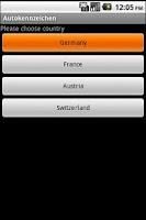 Screenshot of Autokennzeichen