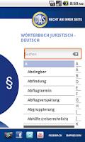 Screenshot of Rechtsschutz