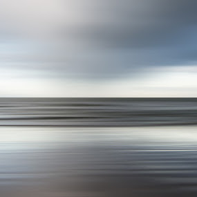 Shower by Dominic Schroeyers - Digital Art Abstract ( abstract, clouds, water, horizon, sea, long exposure, shower, beach, motion )