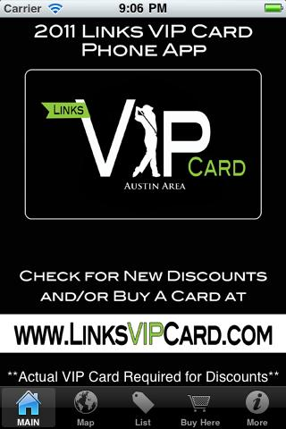 Links VIP Card - Austin Area