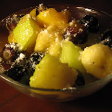 Chamomile, Honey, and Pear Glazed Fruit Salad