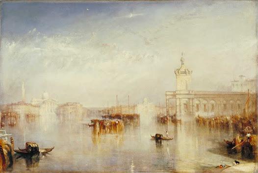 Turner Joseph, La dogana, San Giorgio  Liquido e fantasmatico. Architetture evanescenti e quasi spettrali