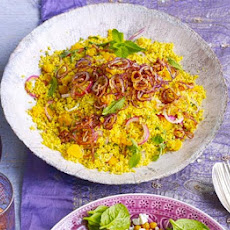 Golden Couscous With Apricots & Crispy Onions