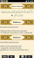 Screenshot of Namaz Sureleri Sesli Görüntülü