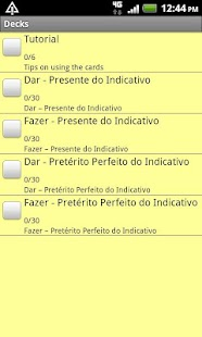 Flashcards - Portuguese, Set 3 - screenshot