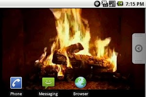 Screenshot of Yule Log Fire Live Wallpaper