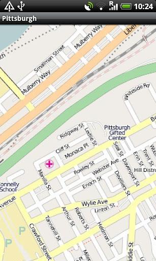 【免費旅遊App】Pittsburgh Street Map-APP點子