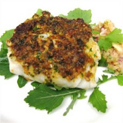 Spicy Marinated Fish with Pineapple Salsa