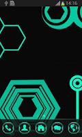 Screenshot of Neon Green Tech GO Theme