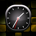 Golden Bold Analog Clock icon