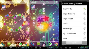 Screenshot of Flowers Live Wallpaper PRO