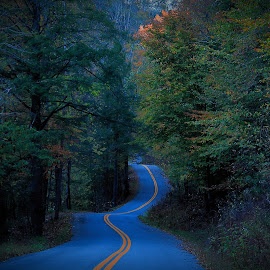 Back Road of Harlan by Paul Mays - Landscapes Mountains & Hills ( fall, color, colorful, nature,  )