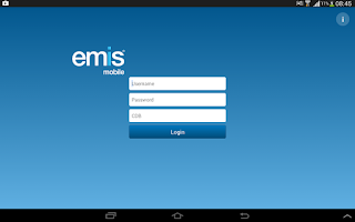 Screenshot of EMIS Mobile