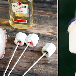 Flaming Marshmallow Jelly Shots