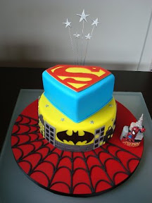 Superhero Trio Cake1