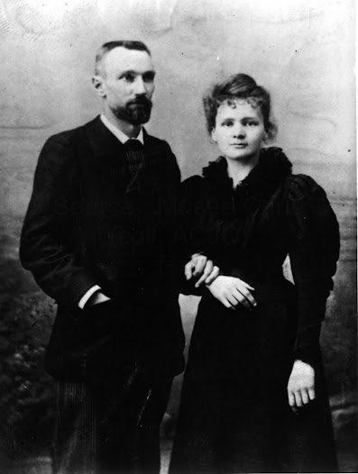 Marie and Pierre Curie for their wedding in 1895