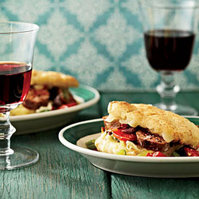 Italian Sausage-and-Fontina Biscuit Sandwiches