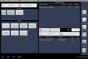 Screenshot of TPV-POS Hairdresser Peluqueria