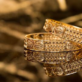 Bangles of a Hindu Wedding by Subhasis Mukherjee - Wedding Details ( gold, bangles, golden,  )