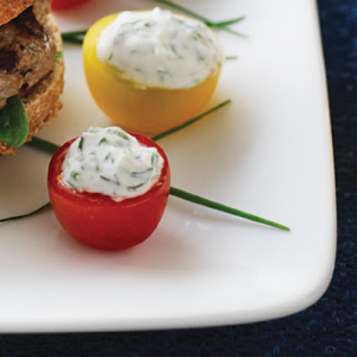 Chèvre & Herb-Stuffed Cherry Tomatoes