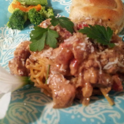 Allie's Creamy Creole Chicken and Sausage