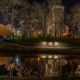 Aura by Bojan Bilas - Buildings & Architecture Places of Worship ( hdr, neighborhood, night, long exposure, turku, city, river,  )