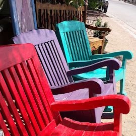 Chairs! by Anne Johnson - Artistic Objects Furniture ( market, village, chairs, furniture, city )