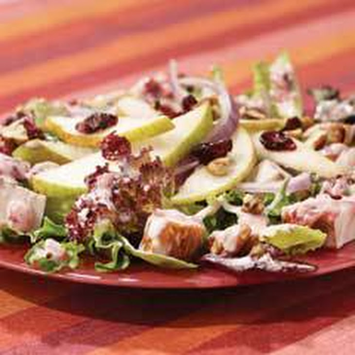 Blushing Cranberry & Pear Turkey Salad Recipe | Yummly