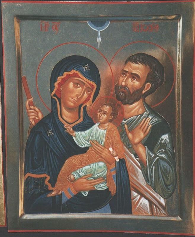 La Sacra Famiglia - Icona dipinta da Padre Tommaso Rignanese