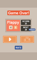 Screenshot of Flappy48 - The Mashup games