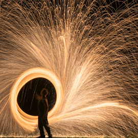 by Colin Dixon - Abstract Light Painting ( light, painting, fire )