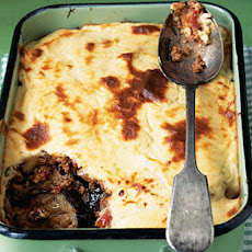 Lamb Moussaka With Feta Topping